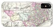 1855 Colton Map Of Texas IPhone Case