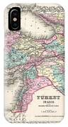 1855 Colton Map Of Turkey Iraq And Syria IPhone Case