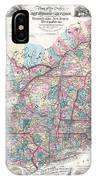 1856 Colton Pocket Map Of New England And New York IPhone Case