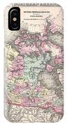 1857 Colton Map Of Canada And Alaska IPhone Case