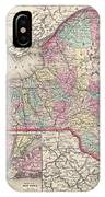 1857 Colton Map Of New York IPhone Case