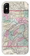 1857 Colton Map Of Pennsylvania IPhone Case