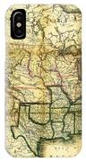 1861 United States Map IPhone Case