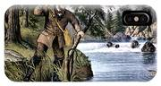 1870s Brook Trout Fishing - Currier & IPhone X Case