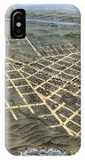 1871 Birds Eye Map Of Chattanooga IPhone Case