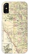 1873 Texas Map By Colton IPhone Case