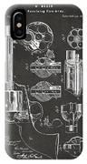 1875 Colt Peacemaker Revolver Patent Artwork - Gray IPhone X Case