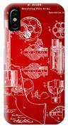 1875 Colt Peacemaker Revolver Patent Red IPhone Case
