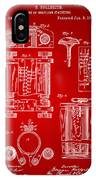 1889 First Computer Patent Red IPhone Case