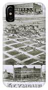 1890 Vintage Map Of Seymour Texas IPhone Case