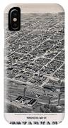 Vintage Perspective Map Of Texarkana IPhone Case