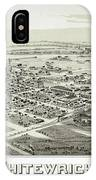 1891 Vintage Map Of Whitewright Texas IPhone Case