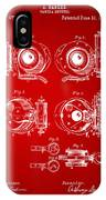 1892 Barker Camera Shutter Patent Red IPhone Case