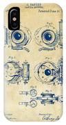 1892 Barker Camera Shutter Patent Vintage IPhone Case