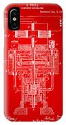1894 Tesla Electric Generator Patent Red IPhone Case by Nikki Marie Smith