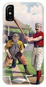 1895 Batter Up At Home Plate IPhone Case
