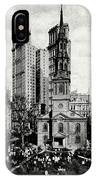 1900 St. Paul's Chapel New York City IPhone Case