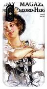 1900s 1913 Smiling German Girl Wearing IPhone Case