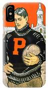 1901 - Princeton University Football Poster - Color IPhone Case