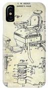 1901 Barber Chair Patent Drawing  IPhone Case