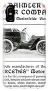 1904 - Daimler Motor Company Mercedes Advertisement - Color IPhone Case