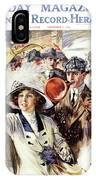 1910s 1912 Cover Sunday Magazine IPhone Case