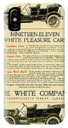 1911 - White Automobile Company Advertisement IPhone Case
