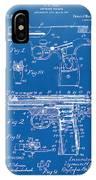 1911 Automatic Firearm Patent Artwork - Blueprint IPhone Case