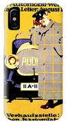 1912 - Audi Automobile Advertisement Poster - Ludwig Hohlwein - Color IPhone Case