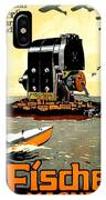 1913 - Fischer Magneto German Advertisement Poster - Color IPhone Case