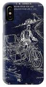 1913 Motorcycle Side Car Patent Blue IPhone Case