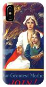 1917 - Red Cross Nursing Recruiting Poster - World War One - Color IPhone Case