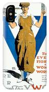 1918 - Ywca Patriotic Poster - World War One - Color IPhone Case