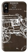 1919 Henry Ford Tractor Patent Espresso IPhone Case by Nikki Marie Smith