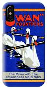 1920 Swan Fountain Pens IPhone Case