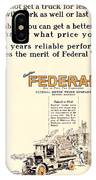 1921 - Federal Truck Advertisement - Color IPhone Case