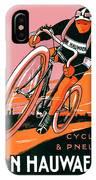 1921 - Van Hauwaert Bicycle Belgian Advertisement Poster - Color IPhone Case