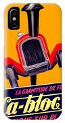 1924 - Ca-bloc Brakes French Advertisement Poster - Color IPhone Case