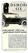 1924 - Oldsmobile Six Automobile Advertisement IPhone Case