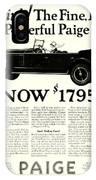 1924 - Paige Automobile Advertisement IPhone Case