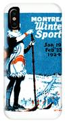 1924 Montreal Winter Sports Poster IPhone Case