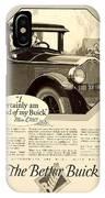 1925 - Buick Automobile Advertisement IPhone Case
