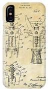 1928 Cork Extractor Patent Art - Vintage Black IPhone Case