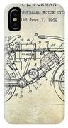 1928 Motorcycle Patent Drawing IPhone Case