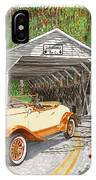 1929 Chrysler 65 Covered Bridge IPhone Case