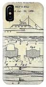 1930 Ship's Hull Patent Drawing IPhone Case