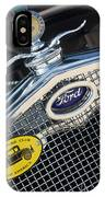 1930 Ford Model A - Radiator N Grill - 7479 IPhone Case