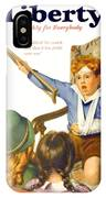 1931 - Liberty Magazine Cover - March 7 - Leslie Thrasher - Color IPhone Case