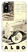 1931 - Talbot French Automobile Advertisement IPhone Case