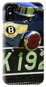 1931 Bentley 4.5 Liter Supercharged Le Mans Taillight Emblem IPhone Case